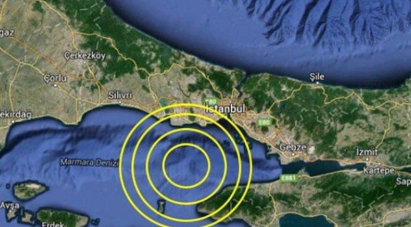 Marmara Denizi'nde 4.5 büyüklüğünde deprem