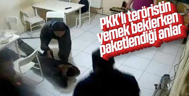 Gri listede aranan teröristin yakalanma anı
