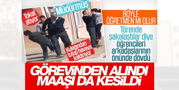 Çankırı'da okul müdüründen öğrencisine meydan dayağı