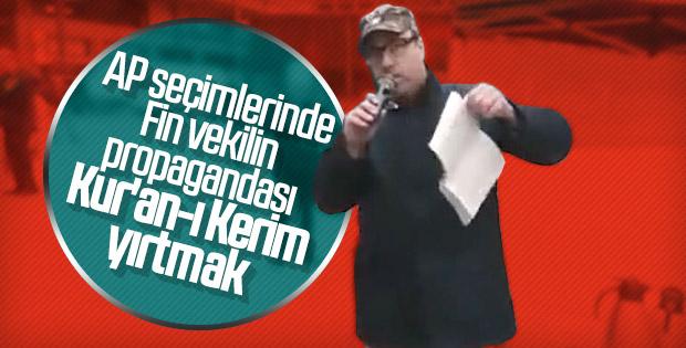 Finlandiya'da seçim çadırında Kur'an-ı Kerim'e saldırı