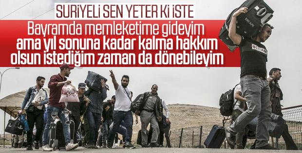 1 haftada 16 bin Suriyeli ülkesine gitti