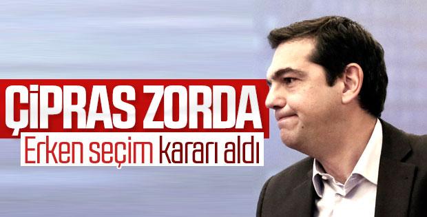 Yunanistan Başbakanı erken seçim istedi