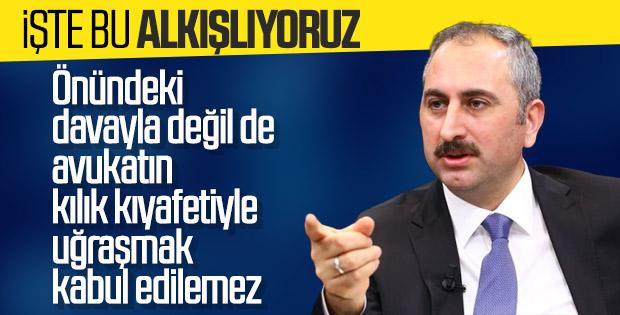 Adalet Bakanı etek boyu tartışması hakkında konuştu