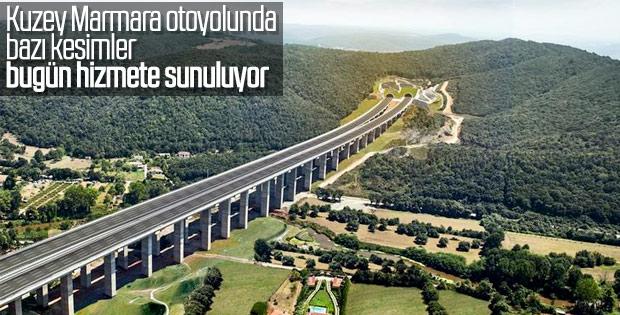 Kuzey Marmara otoyolunda bazı kesimler trafiğe açılıyor