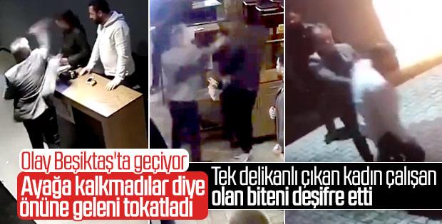 İstanbul'da patrondan çalışanlarına dayak kamerada