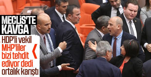 MHP'li ve HDP'li vekiller kavga etti