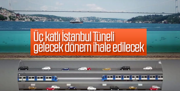 Üç katlı İstanbul Tüneli'nde çalışmalar hızlandı