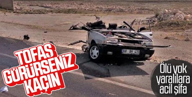 Aksaray'da LGS yolunda kaza: 4 yaralı