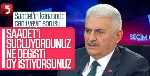 Binali Yıldırım Saadet Partisi'nin oylarına talip