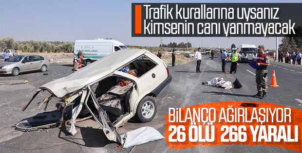 Tatil yolunda 3 günlük acı tablo: 26 ölü 266 yaralı