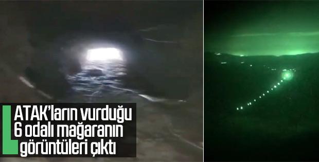 Teröristlerin 500 metrelik mağarası imha edildi