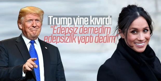 Trump'tan 'edepsiz' açıklaması