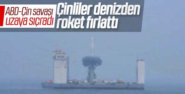 Çin denizden uzaya roket fırlattı