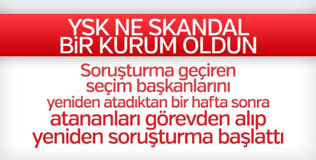 YSK'dan İstanbul'daki seçim müdürleri hakkında soruşturma