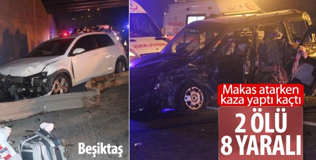 Makas atan sürücü kazaya neden oldu: 2 ölü 8 yaralı