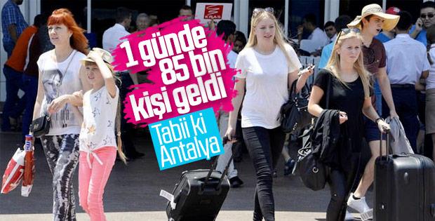 Antalya'da yine turist rekoru kırıldı