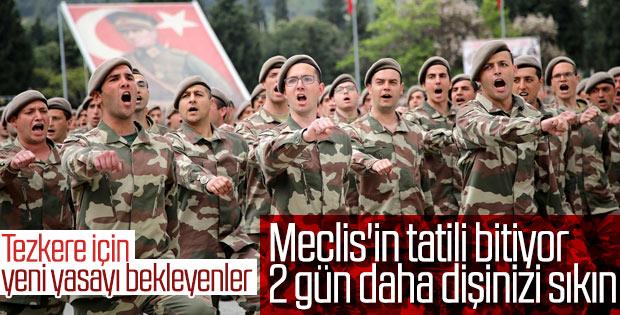 Yeni askerlik yasası bu salı Meclis'te