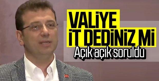 Ekrem İmamoğlu 'it dedi' iddialarını yanıtladı