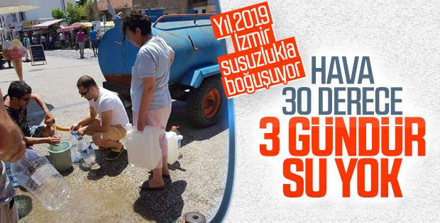 İzmir'de su kesintileri yaşanıyor