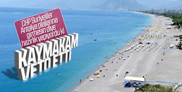 Antalya'da Suriyelilere plaj yasağına veto geldi