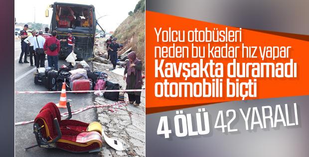 Balıkesir'de kaza: 4 ölü, 42 yaralı