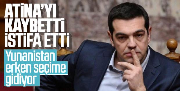 Yunanistan Başbakanı Çipras istifa etti