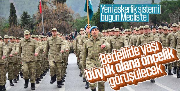 Yeni askerlik sistemi Meclis'te görüşülecek