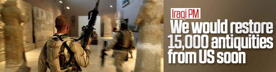 Iraqi PM affirms the recovery of stolen antiquities