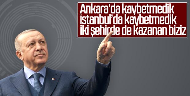 Erdoğan: İstanbul ile Ankara'yı biz aldık