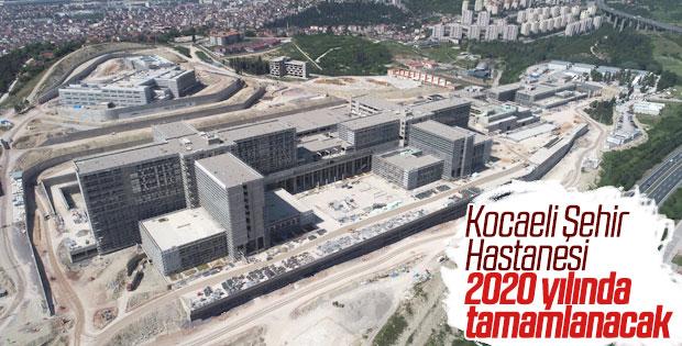 Kocaeli Şehir Hastanesi'nin yüzde 62'si inşa edildi