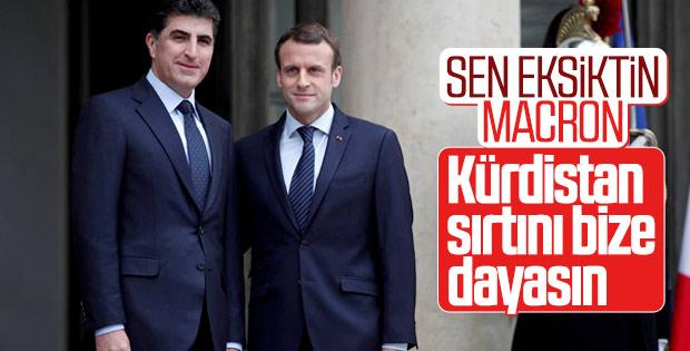 Macron, Neçirvan Barzani'yi tebrik etti