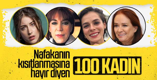 Yeni nafaka tasarısına itiraz eden 100 kadın