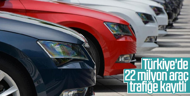 Türkiye'de trafiğe kayıtlı araç sayısı belli oldu