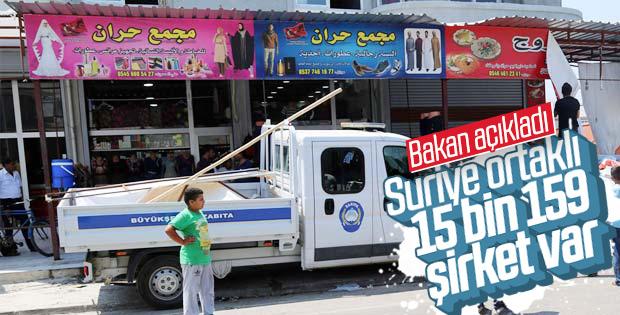 Türkiye'de 15 bin Suriyeli'nin şirketi bulunuyor