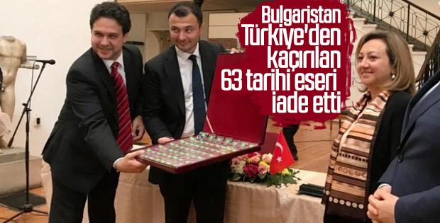 Bulgaristan 63 tarihi eseri Türkiye'ye geri verdi