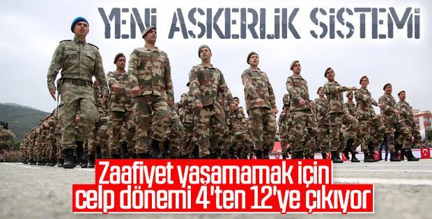 Yeni askerlik sisteminde 12 celp dönemi olacak