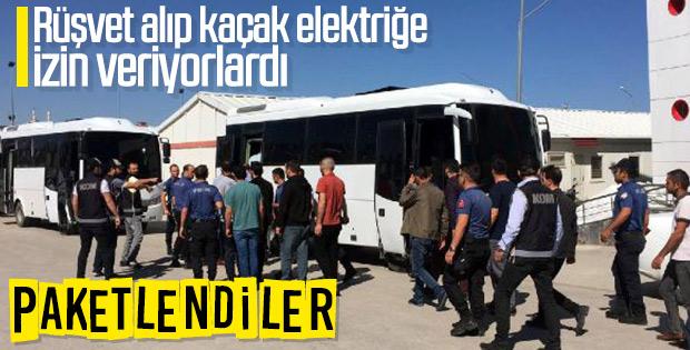 Van'da elektrik dağıtım şirketi çalışanları rüşvet aldı