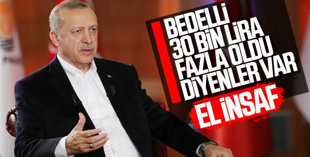 Yeni askerlik sistemi Cumhurbaşkanı Erdoğan'a soruldu
