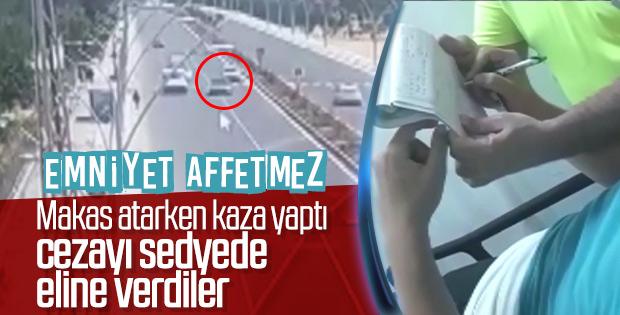 Diyarbakır'da makas atan sürücü sedyede ceza yedi
