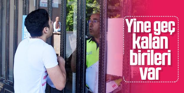 YKS'ye geç kalan öğrenciler sınava alınmadı