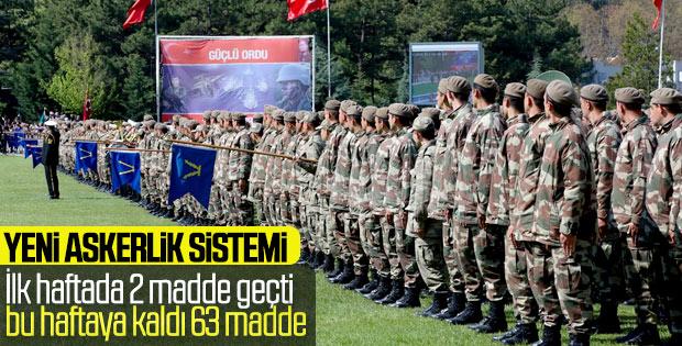 Askerlik yasasında 63 madde daha görüşülmeyi bekliyor