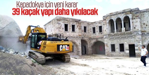 Kapadokya'da 39 kaçak yapı için yıkım kararı