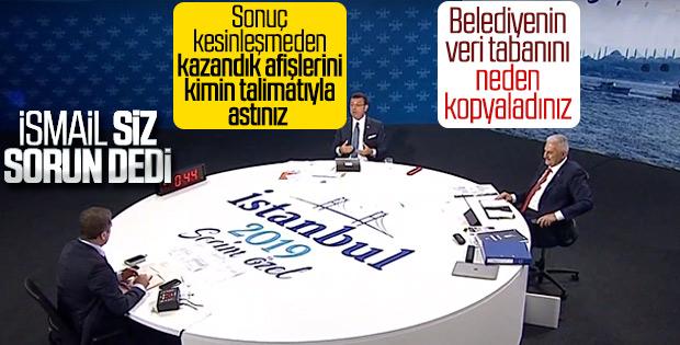 Ortak yayında adaylar birbirine soru sordu