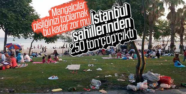 İstanbul'un sayfiye alanları hafta sonu çöplüğe döndü