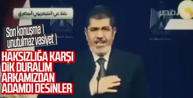 Muhammed Mursi'nin tarihi konuşması