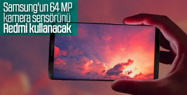 Yeni Redmi akıllı telefonu, Samsung'un 64 MP kamera sensörünü kullanacak