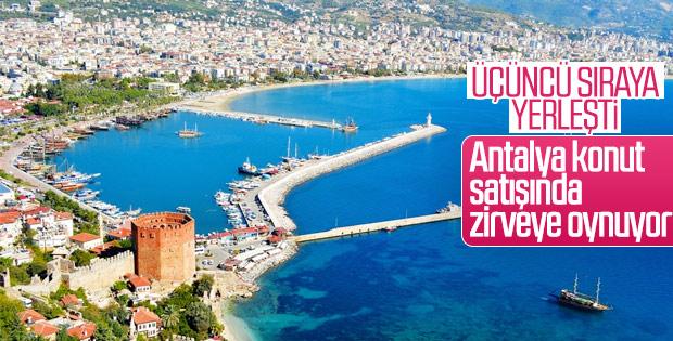 Antalya konut satışında üçüncü sırada