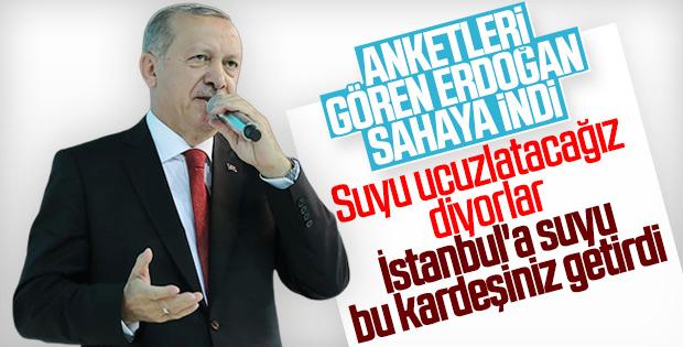 Erdoğan: Dağları delerek İstanbul'a su getirdik