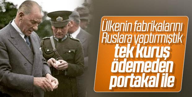 Atatürk portakalla ülkeyi değiştirdi
