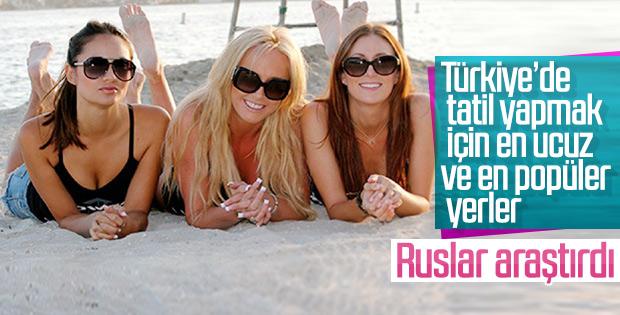 Ruslar Türkiye'nin en ucuz ve en popüler yerlerini yazdı